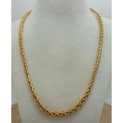 Collier Or Maille Palmier