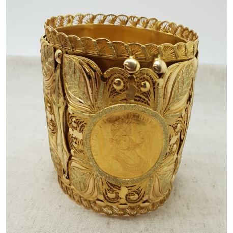 Bracelet Manchette Or Jaune