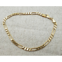 Bracelet Or Maille Figaro
