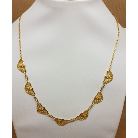 Collier Filigrane Or Jaune