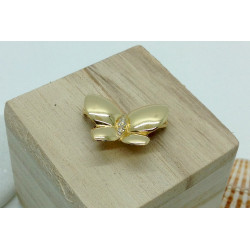Broche Papillon Or Jaune et Diamants
