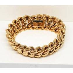 Bracelet Or Jaune Maille Américaine