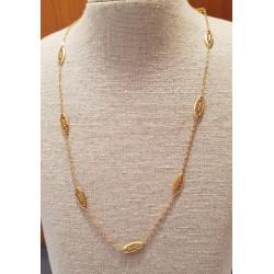 Chaine Or Jaune Maille Filigrane