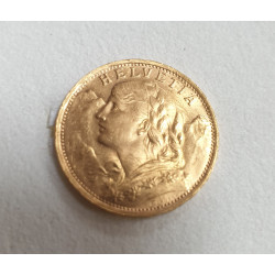 Pièce 20 Francs Helvetia 1935 en Or