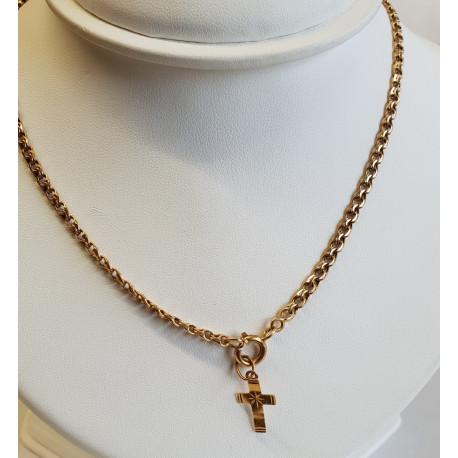 Chaine et Pendentif Croix en Or