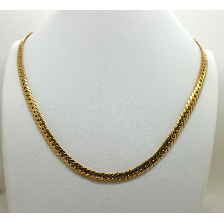 Collier Or Jaune Maille Anglaise