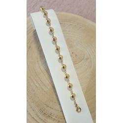 Bracelet Boules en Or Jaune