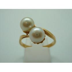Bague Toi et moi Perles
