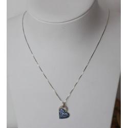 Collier Coeur Topazes et diamants