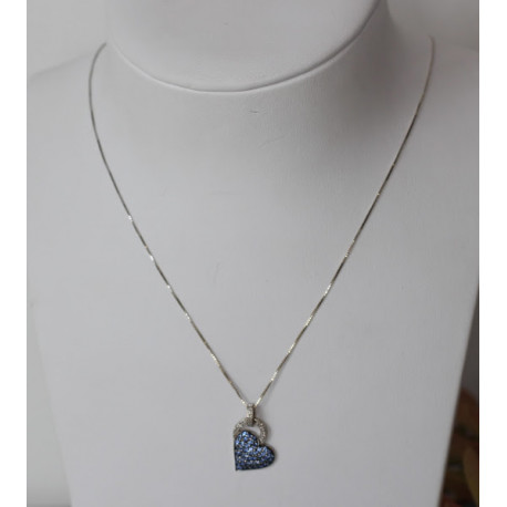 Diamants Collier Coeur Topazes Et Collier USqMzVp
