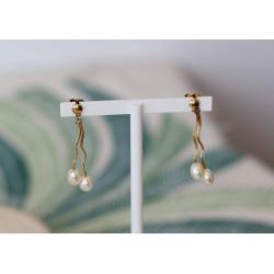 Boucles Pendantes à Perles