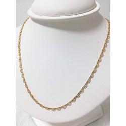 Chaine Or Maille Marine