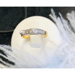 Bague 2 ors et diamants