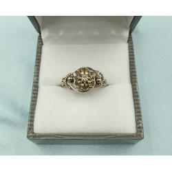Bague Ancienne Or Blanc Diamants