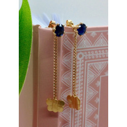 Boucles d'Oreille Or Papillon