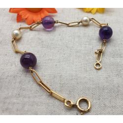 Bracelets perles Violettes