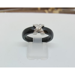 Bague Céramique et diamants