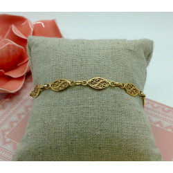 Bracelet Or Maille Filigrane