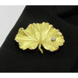 Broche Or Jaune Diamant