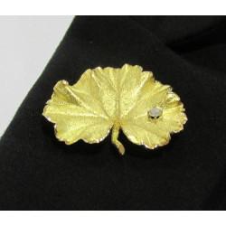 Broche Or Jaune Diamant