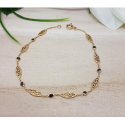Bracelet Filigrane Or et Saphirs