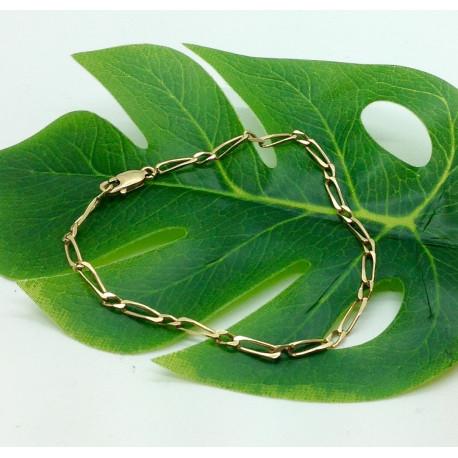 Bracelet Or Jaune Maille Figaro