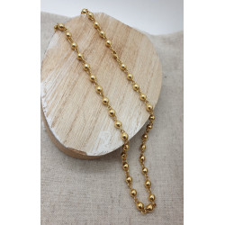 Collier Boules Or Jaune