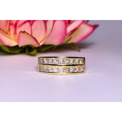 Bague Or et Diamants Princesse de 3.20cts