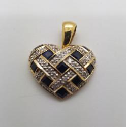 Pendentif Coeur Or et Diamants