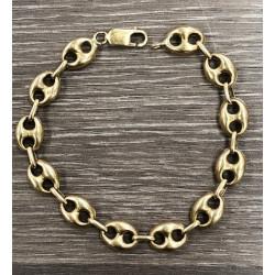 Bracelet Or Jaune Grains de Café