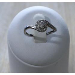 Bague Or Blanc éclats de diamants