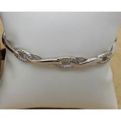 Bracelet Jonc et Oxyde de Zirconium