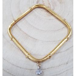 Bracelet Jonc carré diamants