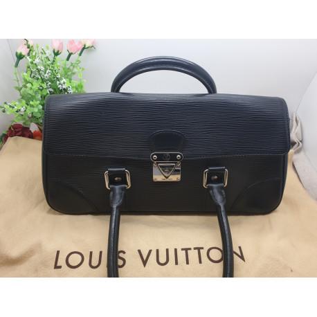 Sac Louis Vuitton Ségur en Cuir Epi Noir