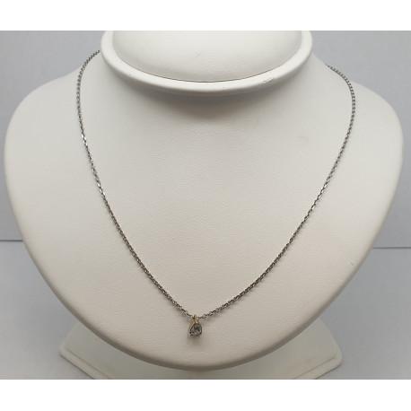 Chaine et Pendentif Or Blanc et Diamant