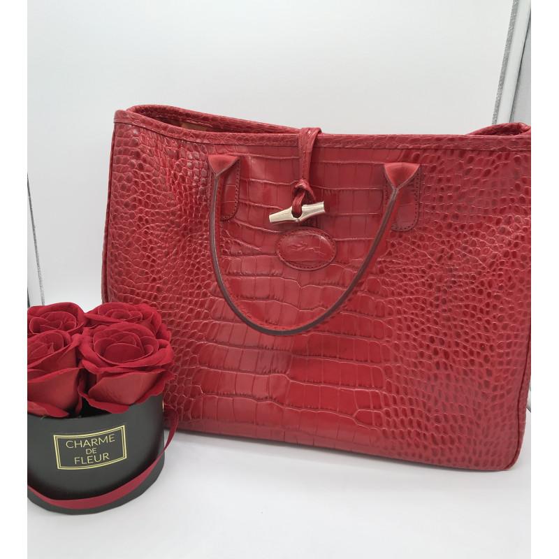 sac longchamp roseau façon croco est ce du cuir