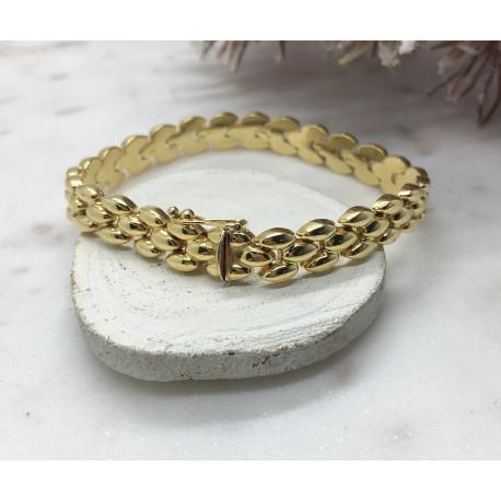 Bracelet Or Maille Grain de Riz