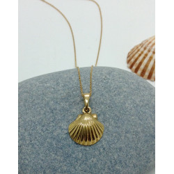 Chaine et Pendentif forme Coquillage