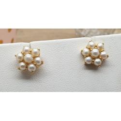 Boucle d'Oreilles Clou avec Perles