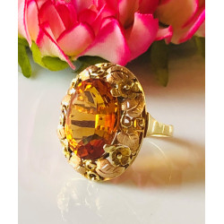 Bague Or Citrine
