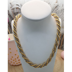 Collier Maille Corde 2 ors