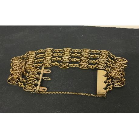 Bracelet 4 Rangs Maille Filigrane