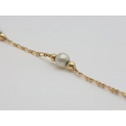 Bracelet en or jaune avec Perle