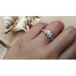 Bague Or Blanc avec Diamant