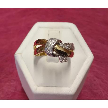 Bague 2 Ors avec Diamants