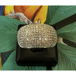 Bague Or avec Pavage Diamant