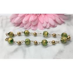 Bracelet or et verres de Venise