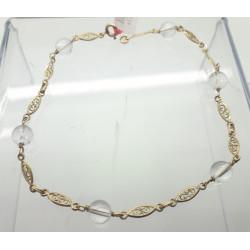 Bracelet or et Cristal