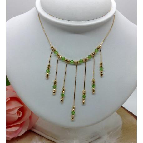 Collier Or avec Perle Verte