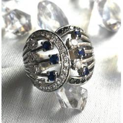 Bague Diamants et Saphir